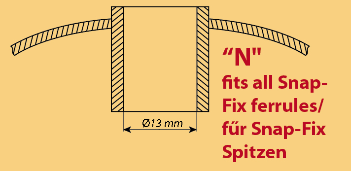 Ski pole baskets with snap-fix system