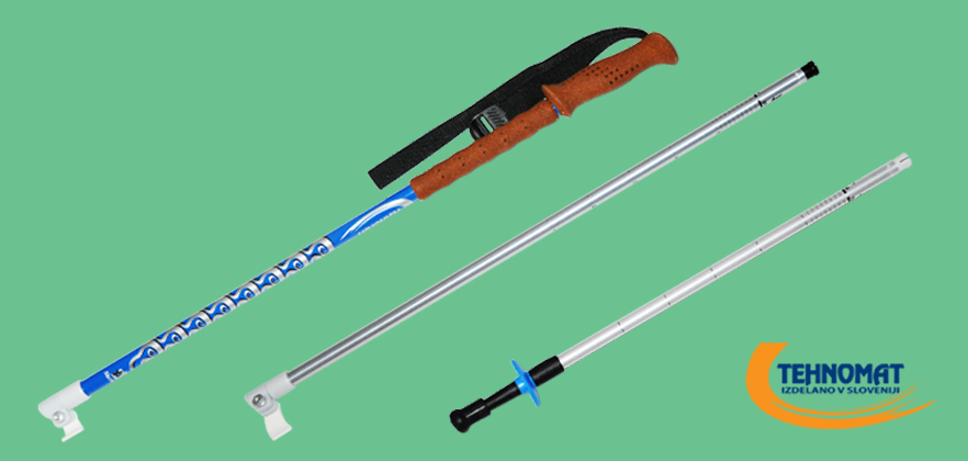 Various ski pole accessories and parts
